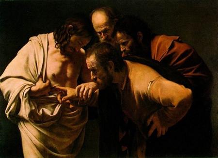 Doubting Thomas - Caravaggio - 450 x 325